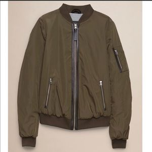 Aritzia Mackage Cara Green Bomber Jacket